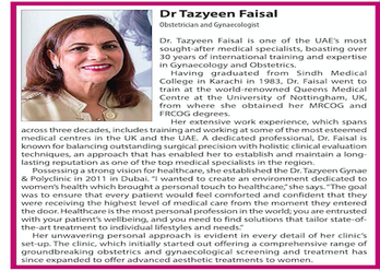 Dr.Tazyeen in Khaleej Times news in March 2019